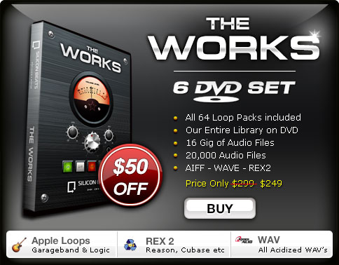 Get our entire library of Drum Loops on a DVD Set shjipped to your door.
