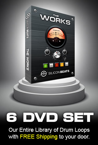 The Works DVD Set. Our Entire Library of Drum Loops Shipped to your door.