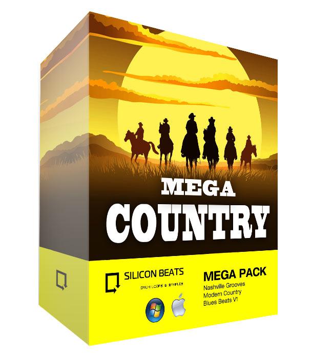 Mega Country Drum Loops Sample Pack