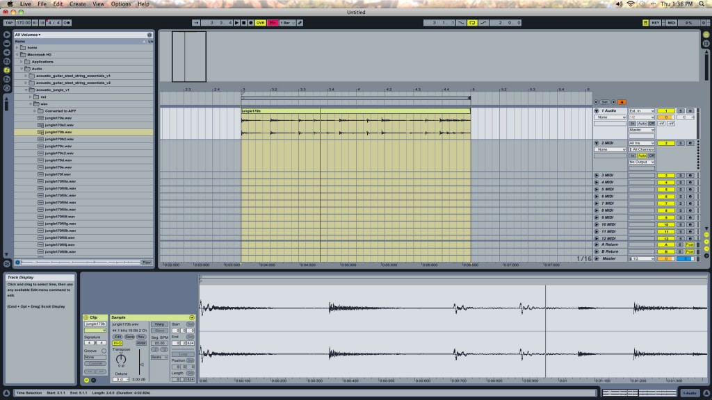 Ableton Live Drum Loops - Raw WAV