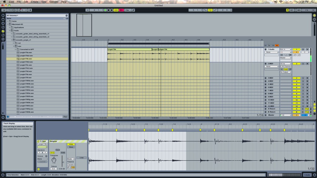 Re-Sequenced Drum Loop in Ableton Live