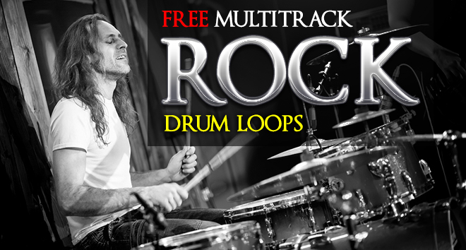 Free Rock Drum Loops - Multitrack WAVE, Rex2 and Apple Loops