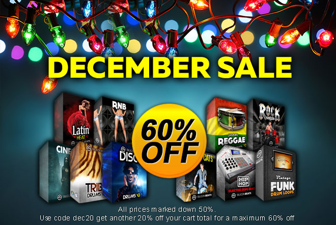 60 % Off Drum Loops and Samples in the December Sale