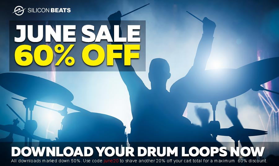 Get Your Drum Loops and Samples in the June Sale