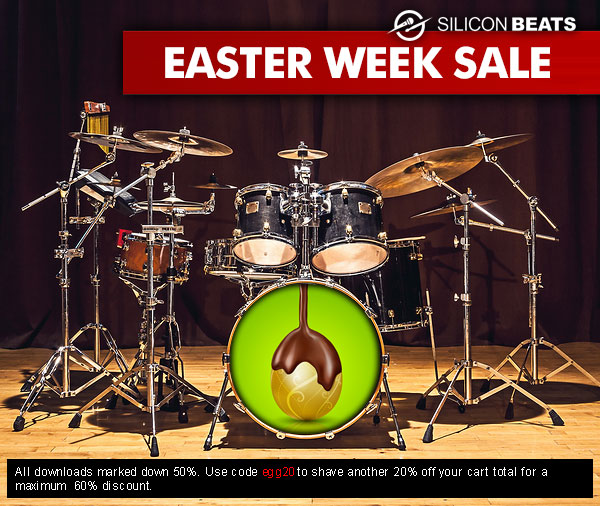 Get Your Drum Loops and Samples in the Easter Sale