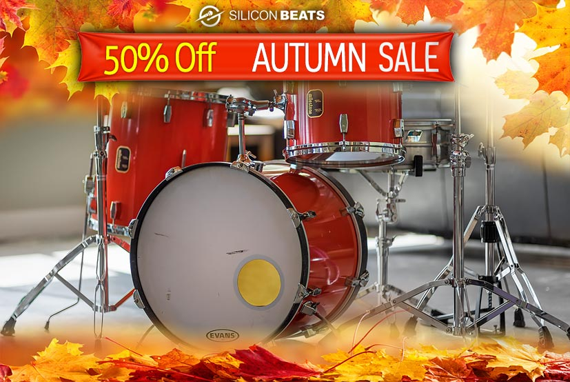 Half Price Drum Loops in the Silicon Beats Autumn Sale