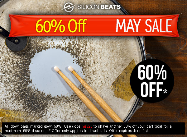 60% Off Drum Loops and Drum Samples in the Silicon Beats May Sale