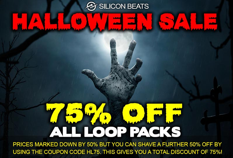 Drum Loops and Samples on Sale for Halloween