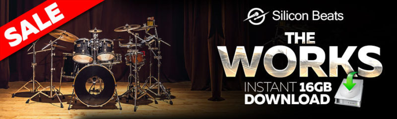 Drum Loop Downloads - 'The Works' 16 Gb Sample Pack of Drums